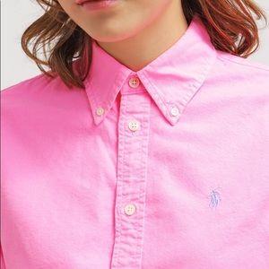 Ralph Lauren Polo Bright Pink Button Down